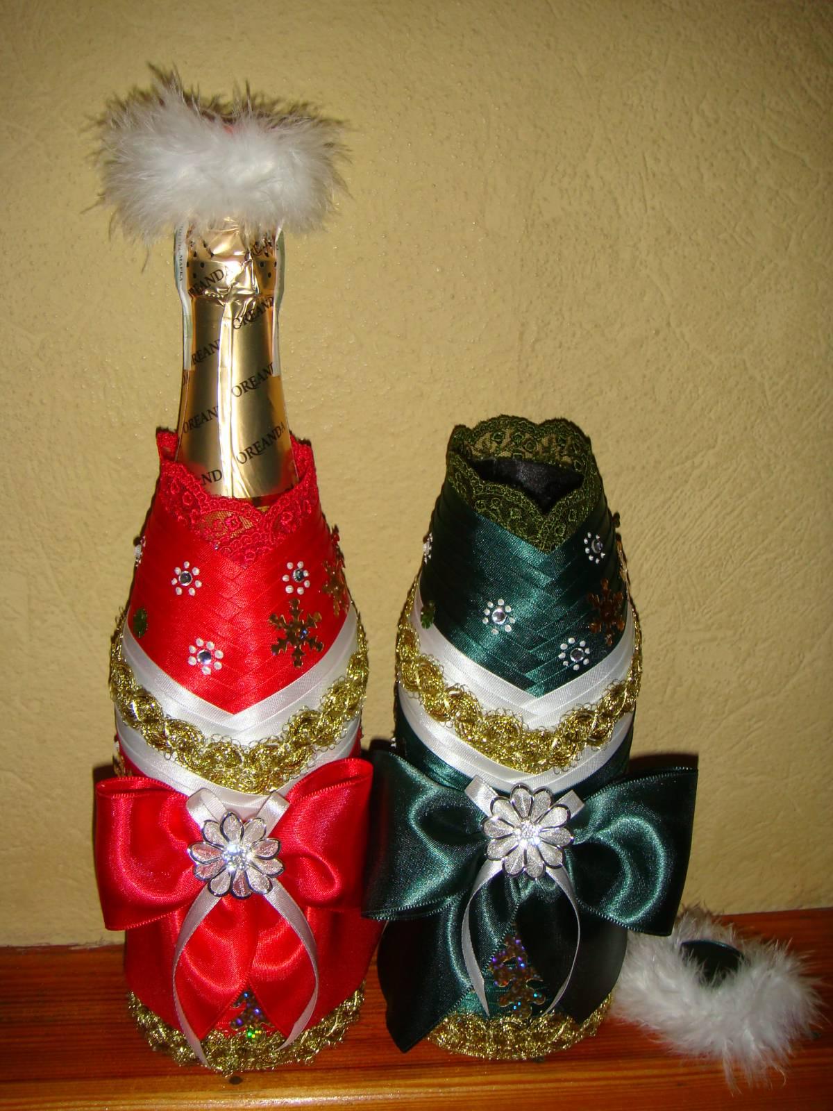 Съемное украшение для шампанского. Дед Мороз. Мастер 394