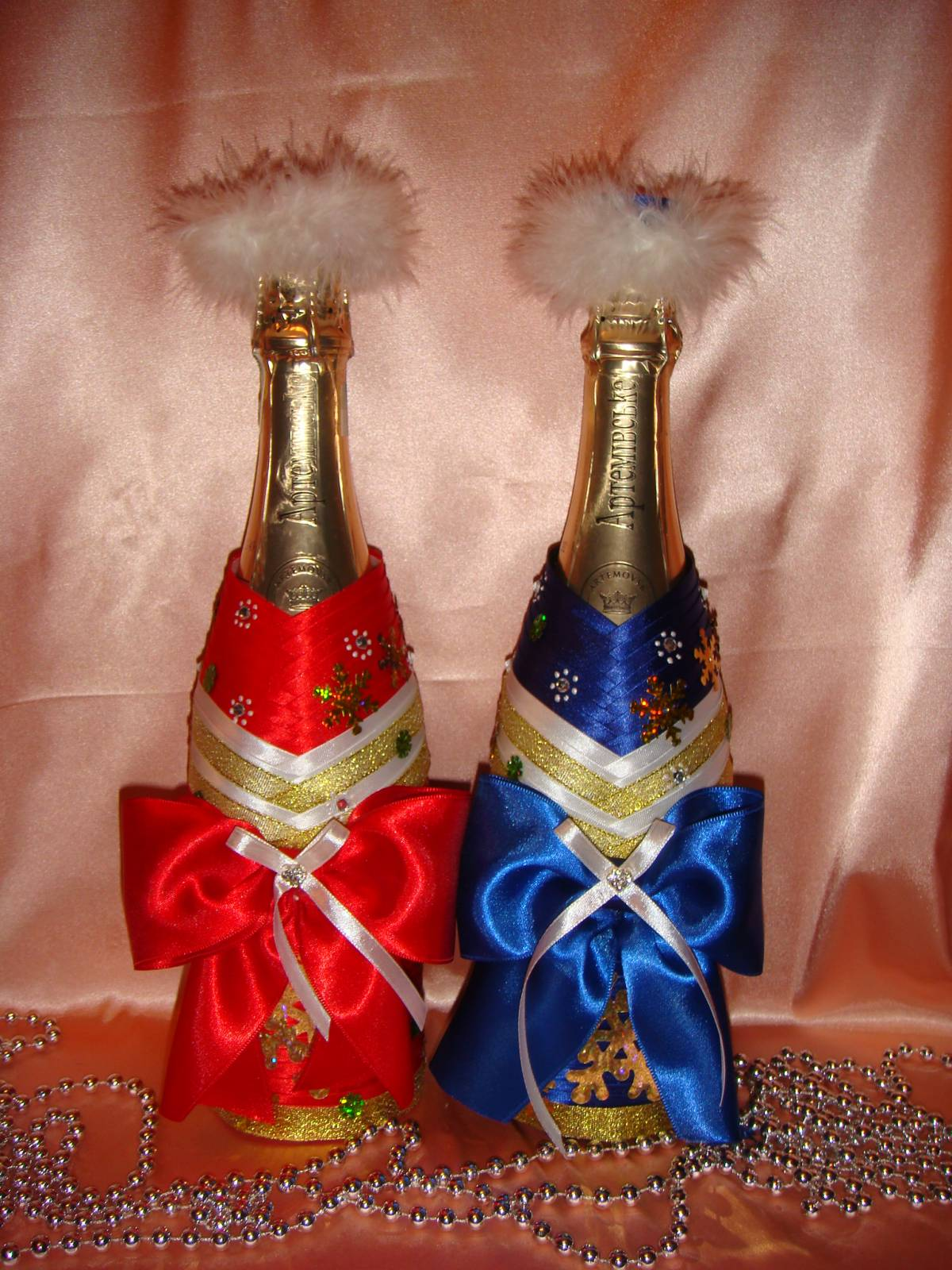 Как сделать украшение на шампанское 970