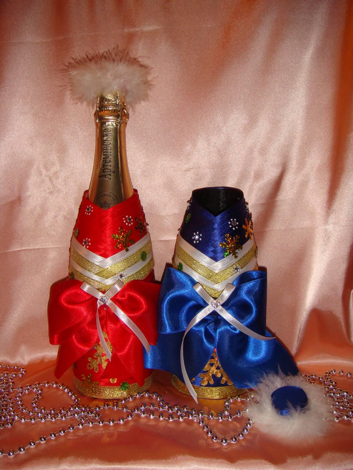 Съемное украшение для шампанского. Дед Мороз. Мастер 1