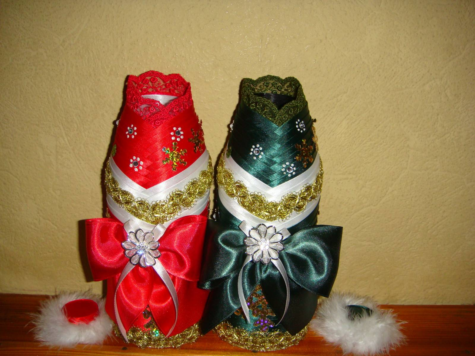 Съемное украшение для шампанского. Дед Мороз. Мастер 79
